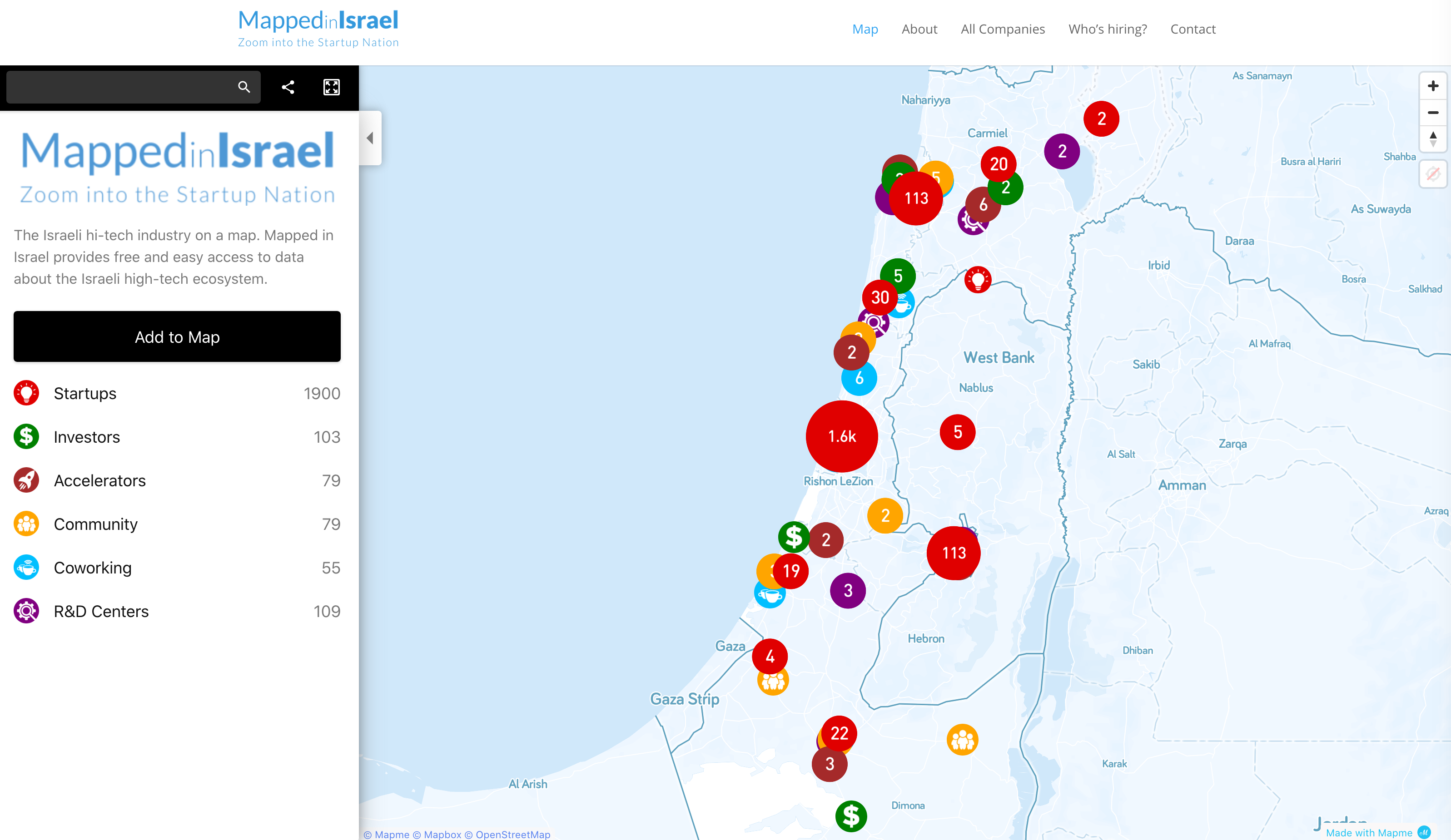 Israel Startup Map